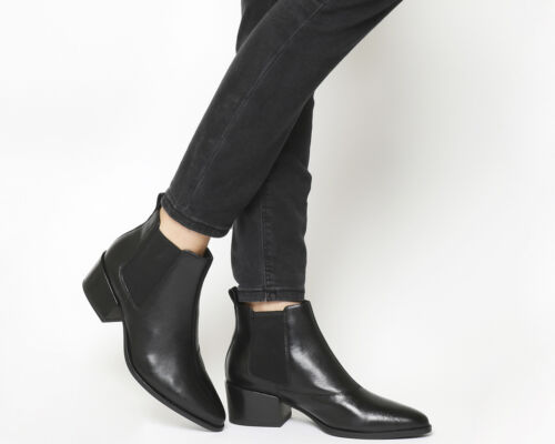 Womens Vagabond Marja Ankle Boots Black Leather Boots