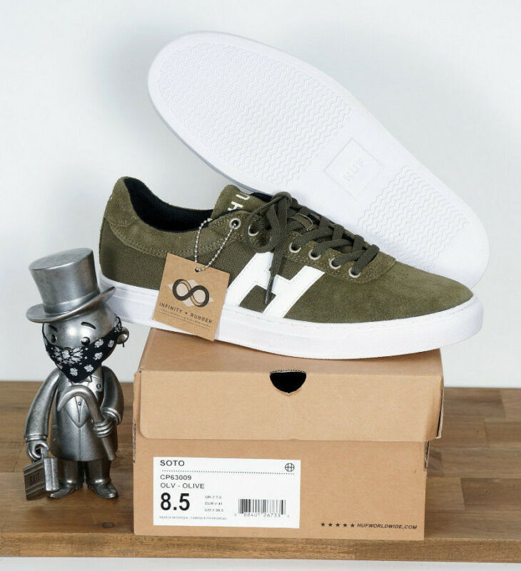 Huf Worldwide Footwear Skate Shoes Shoes Soto Olive Suede 7,5/40