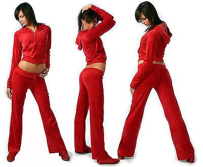 Neu Damen Nicki Hausanzug Sportanzug Fitnessanzug Jogginganzug Farbe Rot S-XL
