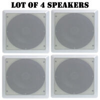 Lot Of (4) Speakers - Pyle Pdic65sq 6.5 Two-way Ceiling Square Speaker System on Sale