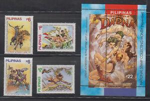 Philippine Stamps 2004 Comics Ilustrations (Darna, Kulafu, Lapu-Lapu etc) set &
