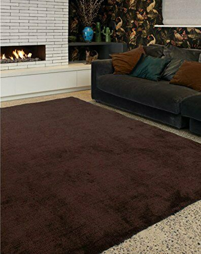 Tula Modern Two Toned Plain Soft Durable Easy Living Polyester Chocolate...