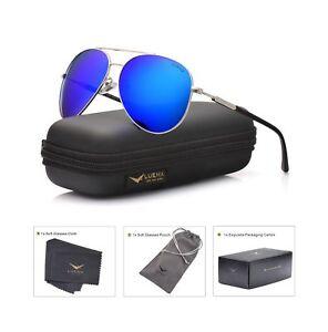 1aa05dcd62 LUENX Men Aviator Sunglasses Polarized Women - UV 400 with case 60MM ...