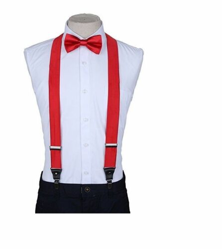 USA Seller Suspenders and Bow Tie Set for Adults Men Women Teens New in Pack