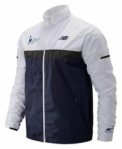 New-Balance-Men-039-s-2019-NYC-Marathon-Windcheater-Jacket-Navy-with-White