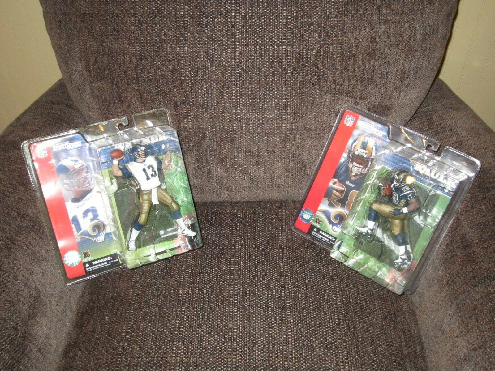 Kurt Warner & Marshall Faulk Series 1 mcfarlane Action figure NFL St Louis Rams