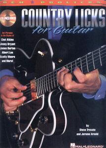 Country-Licks-for-Guitar-Gitarre-Noten-Tabulatur-Songbook-mit-CD
