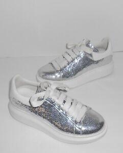 Alexander Mcqueen White/Silver Glitter