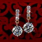 18k rose gold gp made with SWAROVSKI crystal stud earrings dangle