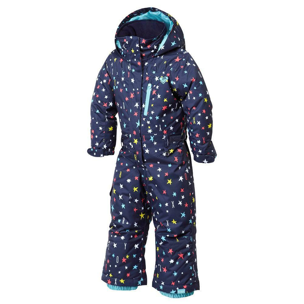 2016 NWT GIRLS ROXY PARADISE SNOWBOARD JUMPSUIT  150 2T navy multi star peacoat