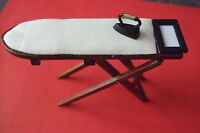 Dolls House Kitchen - Ironing Board And Iron - 1.12 Scale Miniature