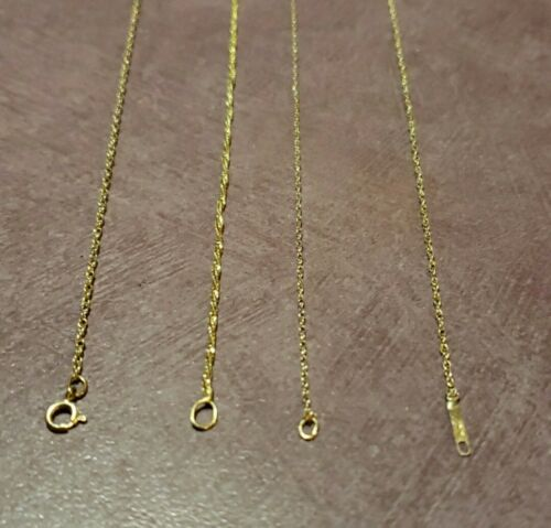 LOT OF 4 14k gold chains