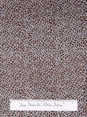"Animal Skin Fabric - Brown Beige Giraffe Print - Timeless Treasures Cotton 21"""