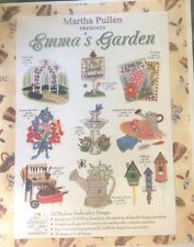 Emma's Garden Machine Embrodiery CD 33 Designs by Martha Pullen Summertime Sewin