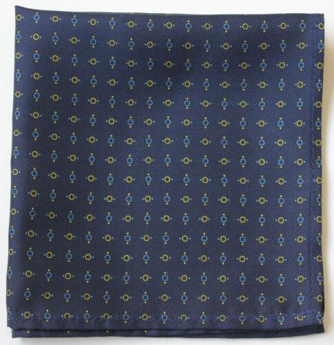Assorted colours /& patterns Hand printed Silk pocket square Handkerchiefs 30cm