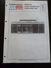 Original Service Manual   ITT Graetz  Super Touring 350 Super Profi 430