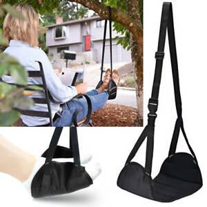 UK Foot Rest Portable Travel Footrest Hammock Carry Flight Leg Pad Office Plane