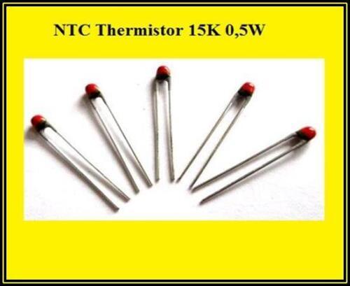NTC sonda calefacción thermistor sensor de temperatura 15k 0,5w 15 kOhm 5 unid.