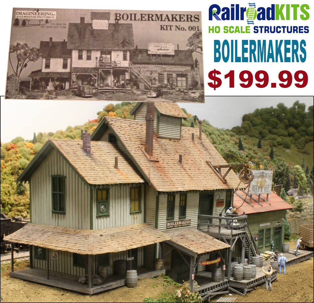 Boilermakers by Railroad Kits   Imagineering   HO Scale Craftsman Structure RARE