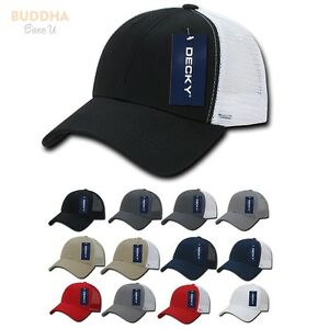 50 LOT DECKY 6 Panel Low Crown Mesh Golf Dad Caps Hats Wholesale ... a8f26b70943b