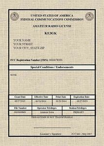 Fcc Registered Amateur Radio Licenses