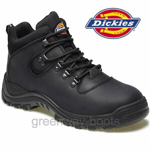 7f9f0a42d0a Details about LADIES LEATHER DICKIES FURY WOMENS SAFETY WORK BLACK BOOTS  STEEL TOE CAP SIZE 8