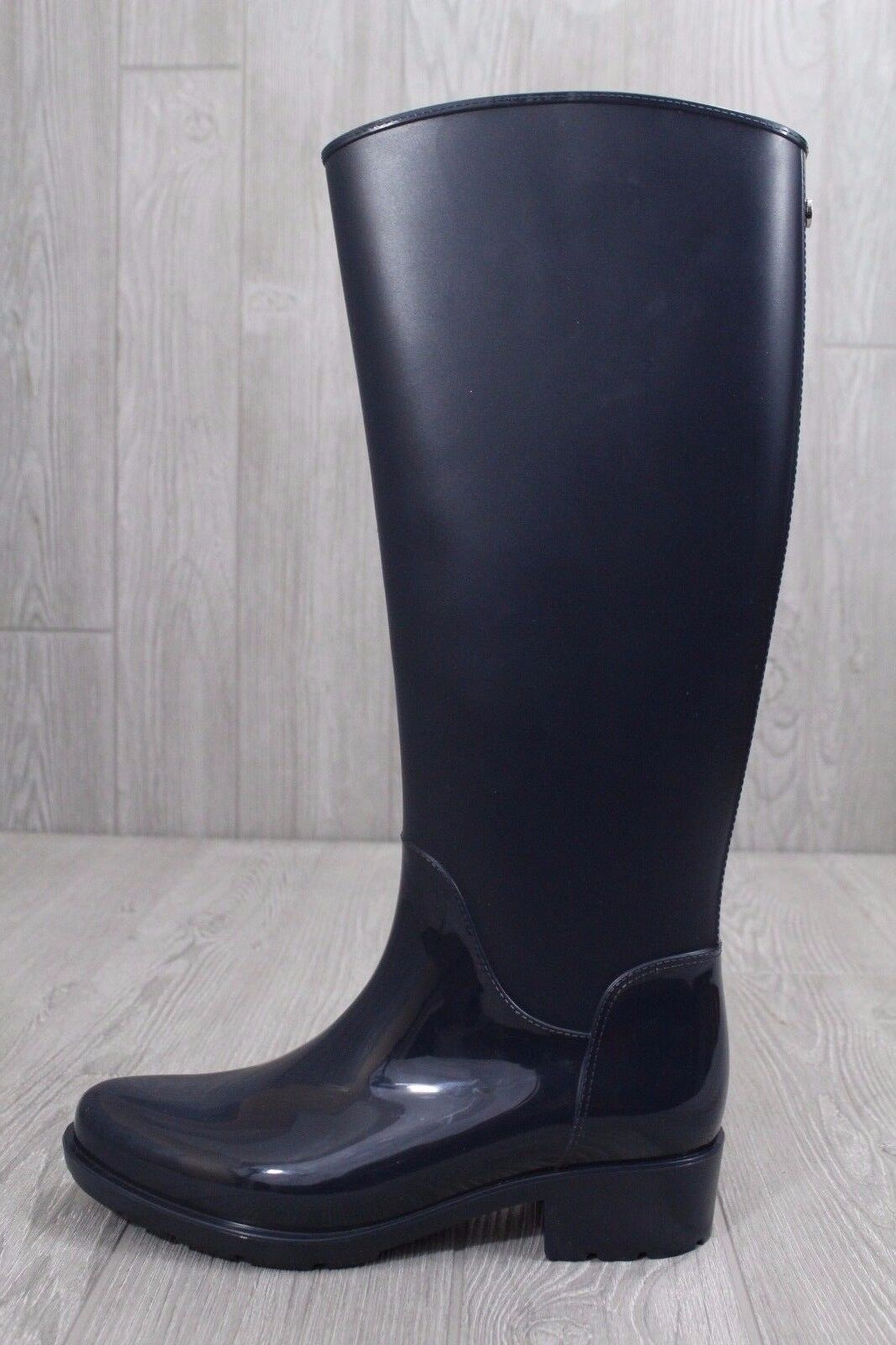 24 New Sam Edelman Women's Sydney Navy Blue Waterproof Rubber Rain Boots Size 7