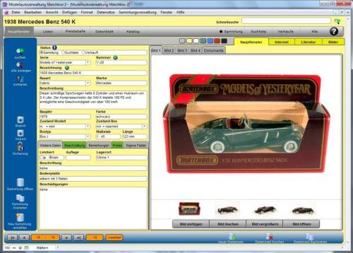 programa Modelo de gestión de coche para Matchbox-modelos 2-Software