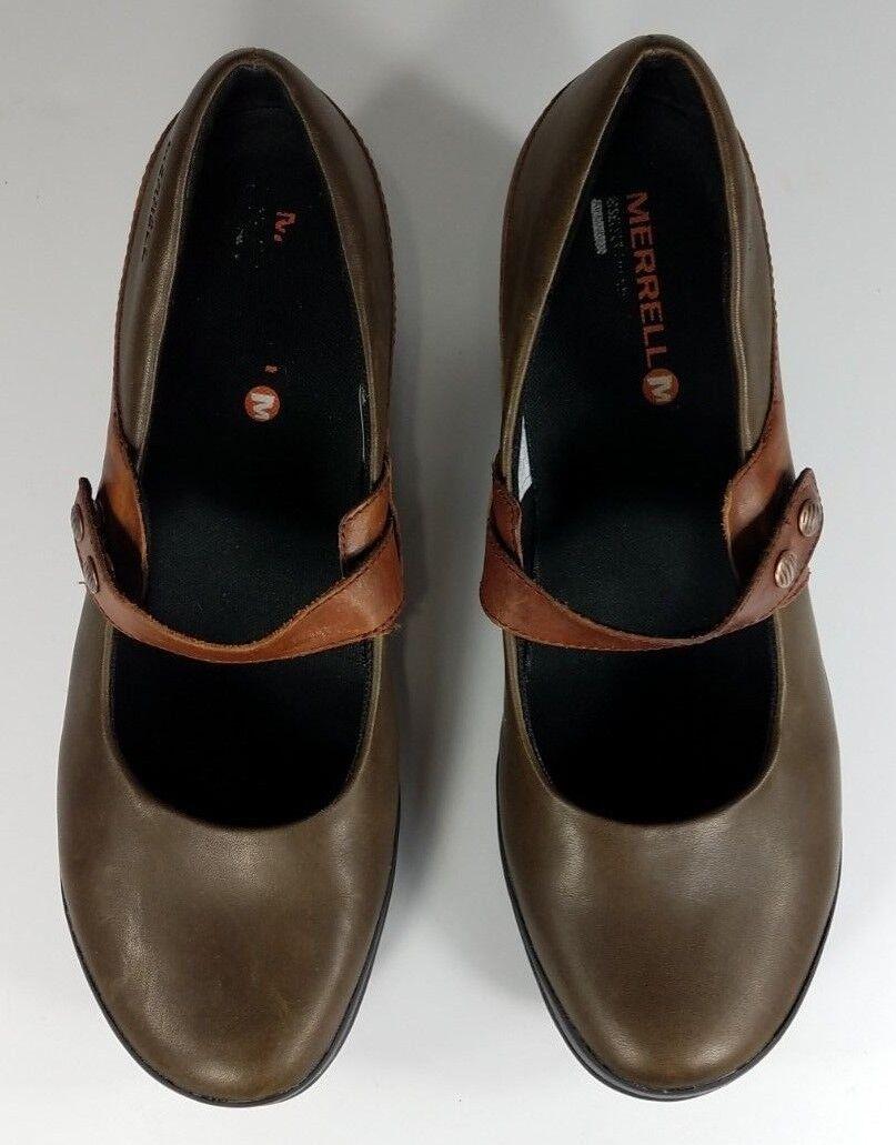 Zapatos de Cuero Merrell Marrón Moca Atléticas Tacón para Alto Mary Janes señoras para Tacón mujer 9.5 3124dd