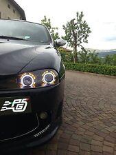 """Fanali Alfa 147 con lenticolari bixenon 2.8"""" doppio Angel Eyes diversi colori"""