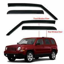 For Jeep Patriot 2007 2017 4pcs Smoke Window Visors Rain Guards Sun Shade Vent Fits 2012 Jeep Patriot