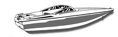 7oz STYLED TO FIT BOAT COVER GLASTRON CARLSON 18 CSS I O 1990