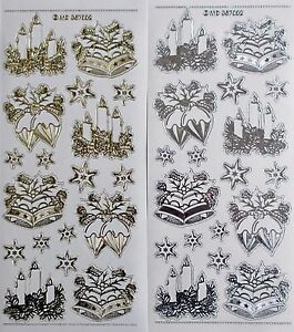 Embossed on Clear Japanese Kimono PEEL OFF STICKERS Lotus Flower Stitching