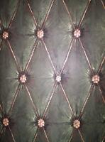 Wallquest Multi Green Button Tuck Wallpaper 504