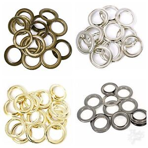 40mm Metal Curtain Eyelets Brass Rings Round Eyes Leather