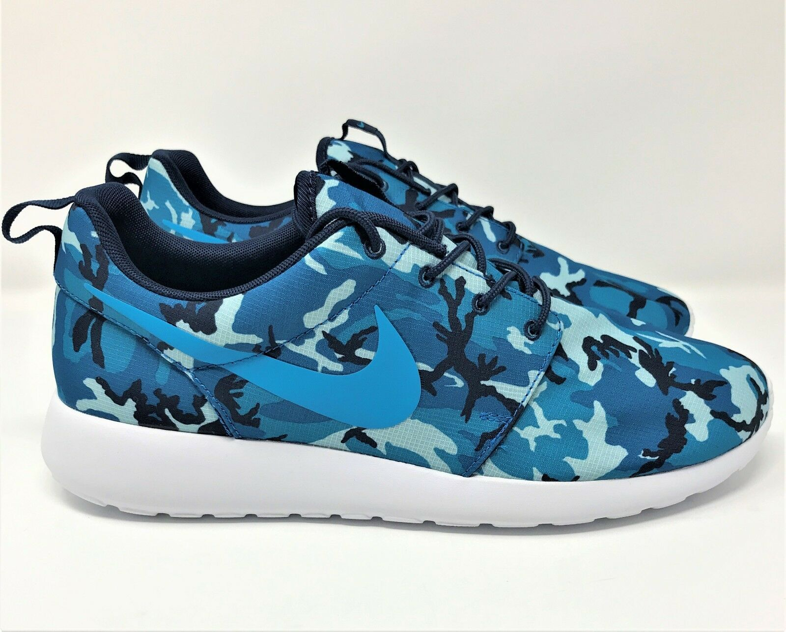 NEW Mens Nike Roshe Run One Print bluee White Camo 655206 441 Running shoes 10-12