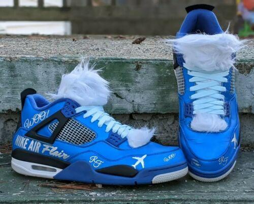 Nike Air Jordan 4 Custom Ric Flair WOO Size 13 Wre