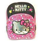 NWT Girls Pink Silver HELLO KITTY BACKPACK school books bag tote 16 inch Glitter
