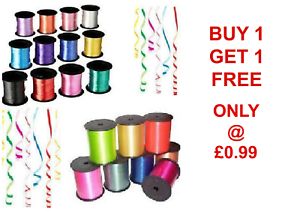 5mm Balloon Curling Ribbon 32 Shades 50m Buy 1 Get 1 Free BALOON RIBBON HELIUM