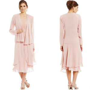 Details about Plus Size Mother of the Bride/Groom Dresses With Jacket Long  Sleeves Formal Gown