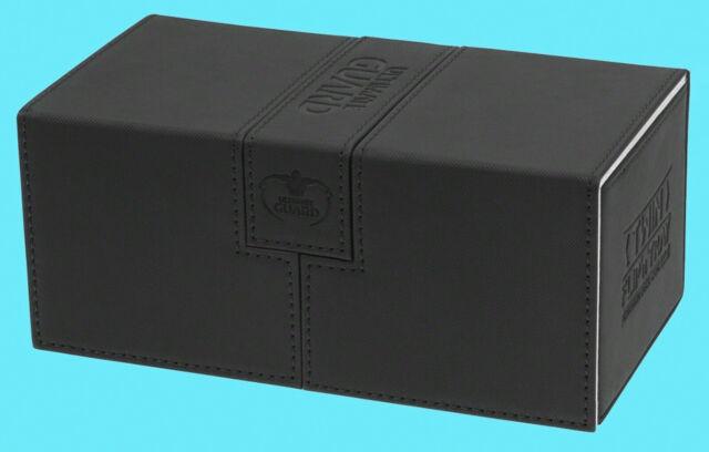 ULTIMATE GUARD TWIN FLIP n TRAY BLACK 200+ XENOSKIN DECK CASE Game Card Box CCG