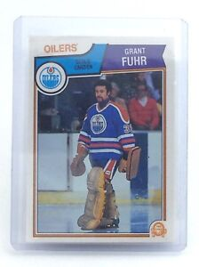 1983-1984-Grant-Fuhr-27-Edmonton-Oilers-OPC-O-Pee-Chee-Ice-Hockey-Card-H669