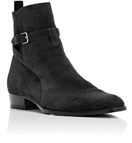 Zapatos Para Hombre Hebilla De Cuero De Gamuza Hecho a Mano Cuero botas al tobillo para Hombre Pantalones de alta