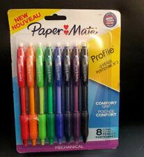 Paper Mate 8pk Profile Comfort Grip 2 Mechanical Pencils New