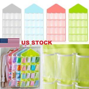 16-Pocket-Clear-Over-Door-Hanging-Bag-Shoe-Rack-Hanger-Storage-Organizer-Cool-JR