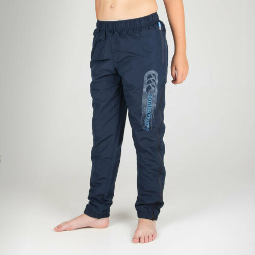 Canterbury Unisex Tapered Cuff Youth Woven Training Pants Trousers Bottoms Navy