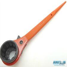 Ponteggio Chiave/ Cricchetto Podger Acciaio Dritta chiave 19mm x 24mm arancione