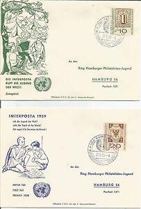 Germany-1959-Interposta-Jugend-Welti-World-Youth-Hamburg-FDC-Cover-x-2