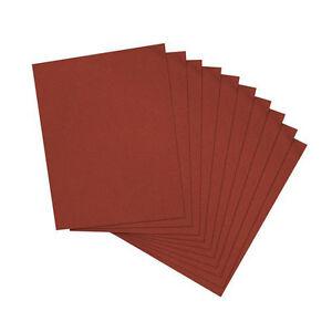 confezione-da-10-80-SABBIA-230mm-x-280mm-Emery-panno-sheets-metal-levigatura