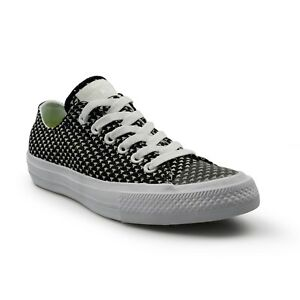 converse nero all star ox trainers